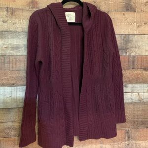 Natural Reflections plum cardigan sweater, size XL